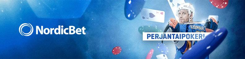 Perjantaipokeria NordicBetilla – ota osaa 2000 euron ilmaisturnaukseen